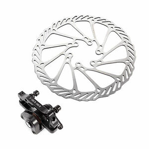 Mechanical Disc Brake MTB Bike Cycling Bicycle Front//Rear Caliper 160mm Rotors