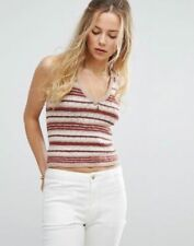 a50be941f3ba7 Free People Ditsy Stripe Knit Tank Top in Neutral Combo Sz  Large NWT