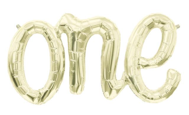 Love One Yay Party Fun Hello Baby Boy Girl Script Foil Balloon Air Halloween