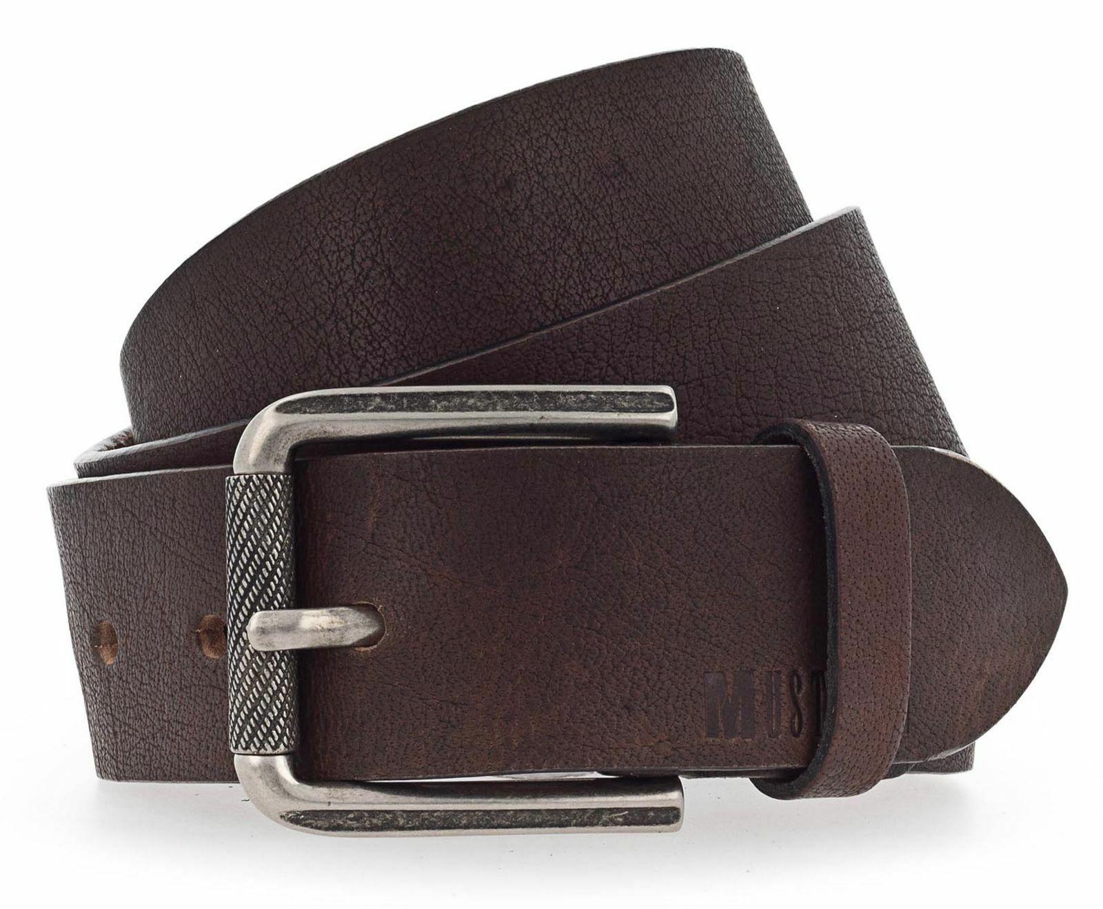 MUSTANG Adjustable Men´s Belt W85 Gürtel Accessoire Dark Brown Braun Neu