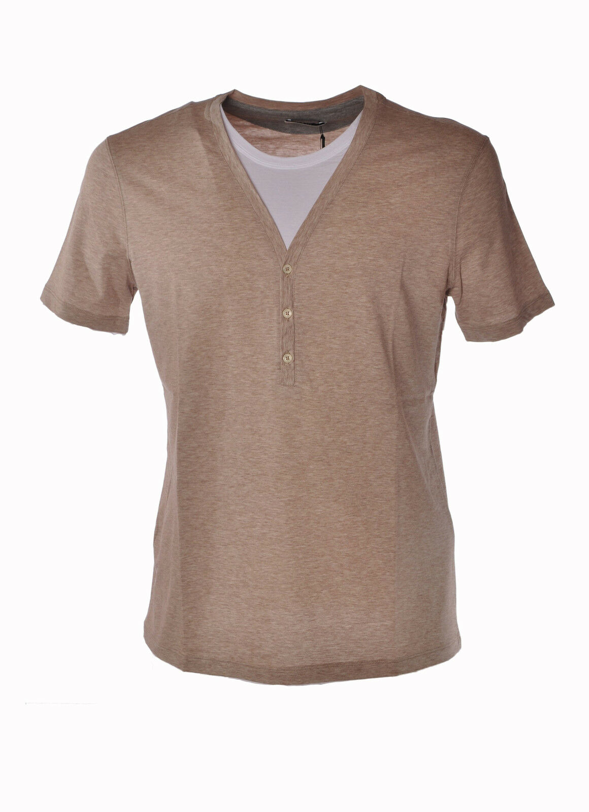 Paolo Pecora - Topwear-T-shirts - Man - Beige - 3596006C190356