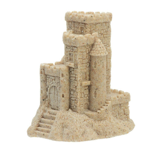 """Real Sand Castle Figurine 013 3/"""" Tall Collectible Beach Lake Home Decor"""