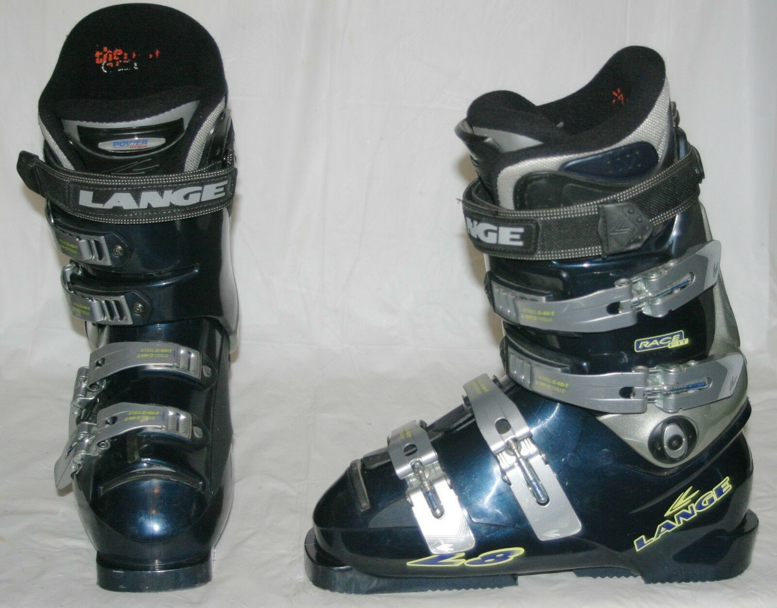 Lange L8 Race Alpine Downhill Ski Boots (6.5 US Women, 37.5 EU) Dark bluee VGUC