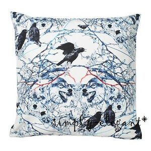 New-IKEA-Cushion-cover-Pillow-Cover-Stunsig-Wolf-Birds-20-x-20-034-White-Blue