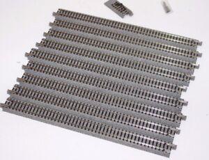 Kato-N-Scale-Unitrack-Straight-Track-248mm-9-3-4-034-9-pc-Steright-Track-Senta-Fe
