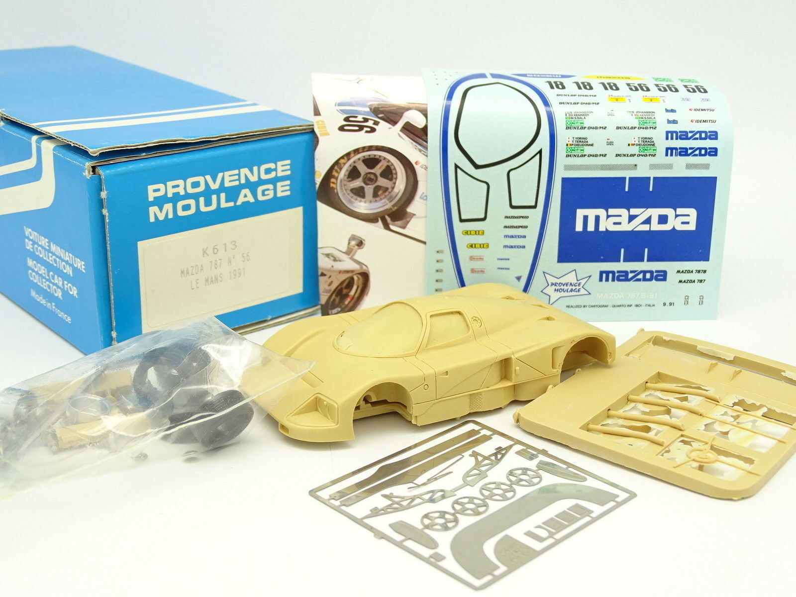 Provence moulage kit to mount 1 43 - mazda 787 no. 56 le mans 1991