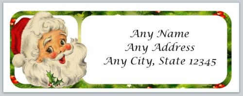 ac 27 30 Personalized Address Labels Christmas Santa Claus Buy 3 get 1 free