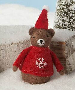 Bethany Lowe Christmas Red Sweater Bear LM8175 New