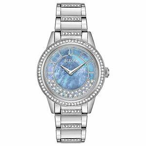 Bulova 96L260 Women's Crystal Turn Style Blue Quartz Watch