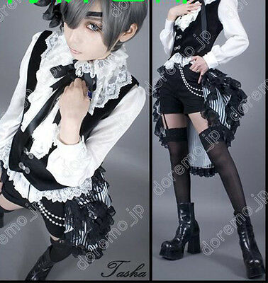 Black Butler/Kuroshitsuji Book of Circus CielPhantomhive Costume Cosplay