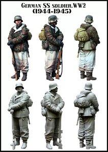1-35-WW2-RESIN-MODEL-KIT-FIGURE-GERMAN-WAFFEN-SS-SOLDIER-1-TOP-QUALITY-FIGURE