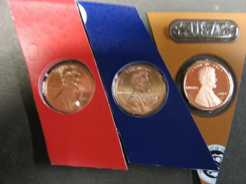 2019 P D S and 3 W  LINCOLN CENTS  ALL IN Mint ISSUED PLASTIC AND POLY BAGS 6 pc