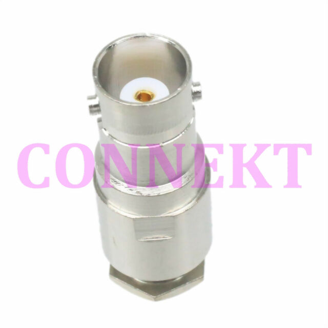 1pce BNC female jack clamp RG58 RG142 LMR195 RG400 RF connector