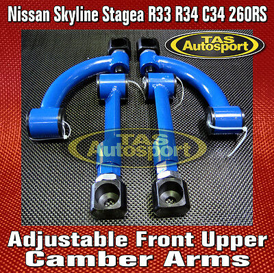 Adjustable Front Upper Camber Arms Nissan Skyline Stagea R33 R34 C34 260RS