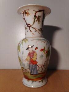 Vase-ancien-porcelaine-Paris-Bayeux-XIX-19-siecle-decor-chinois-Chine