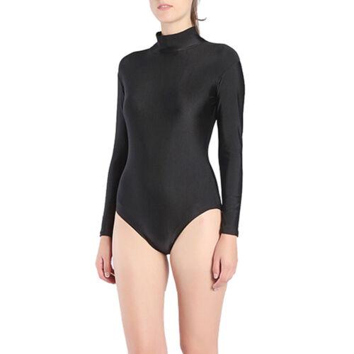 Women/'s Long Sleeve Romper Sports Jumpsuit Bodysuit One Piece Short Catsuit