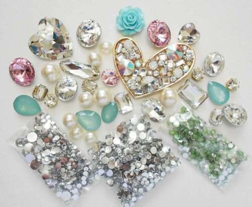DIY 3D Crystal Gems Kawaii Resin Flatback Decoden Cabochons Cell Phone Case Deco