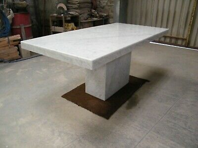 Solid White Carrara Marble Dining