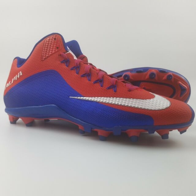 reputable site fcc5a 2ad4b Nike Alpha Pro 2 3 4 TD PF Mens Size 15 Football Cleats Red White