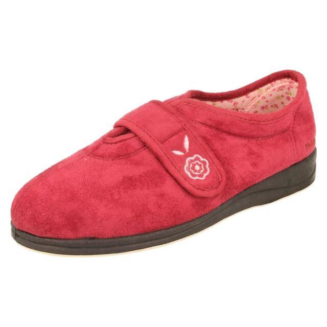 7eba50c82df4 Ladies Padders Memory Foam Wide Fitting Slippers Camilla 3 UK Cerise ...