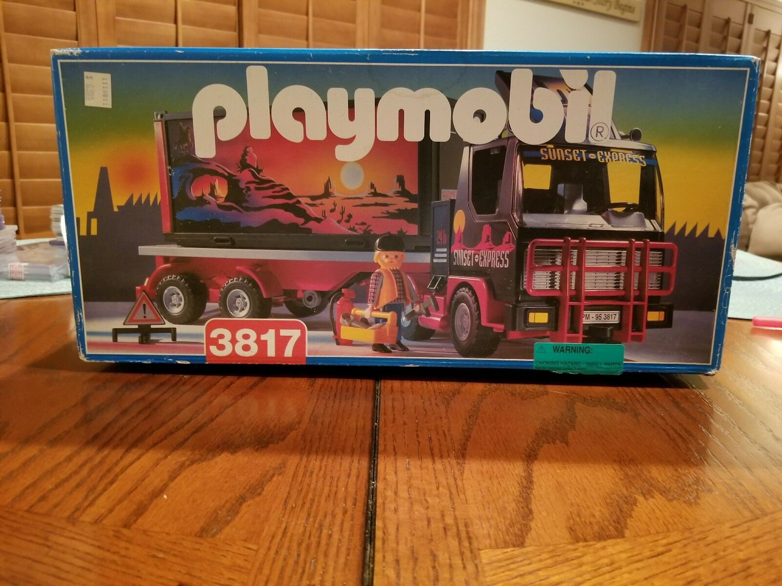 Sunset Express Tractor Trailer Playmobil  3817   RARE Vintage NIB  MUST SEE