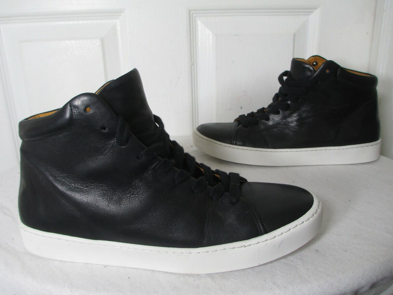JAK ROYAL HIGH BLACK LEATHER WOMEN'S SNEAKERS EU 38 US 7½ MADE IN PORTUGAL  220
