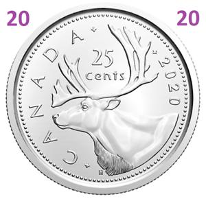 2020-New-Canada-25-cents-quarter-UNC-coin-Brilliant-Uncirculated-2020