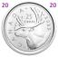 2020-New-Canada-25-cents-quarter-UNC-coin-Brilliant-Uncirculated-2020 miniature 1