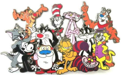 FELINE FANATIC Cat Lovers Cartoon Fantasy JUMBO 2.75 Inch Lapel Pin