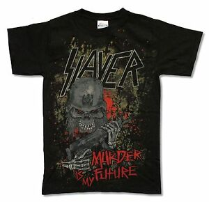 Slayer-Murder-Is-My-Future-Black-T-Shirt-New-Official-Band-Music-Small-S