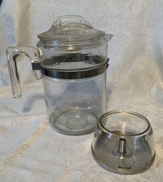 PYREX PERCOLATOR 6 cup Coffee Stovetop 7756 Flameware