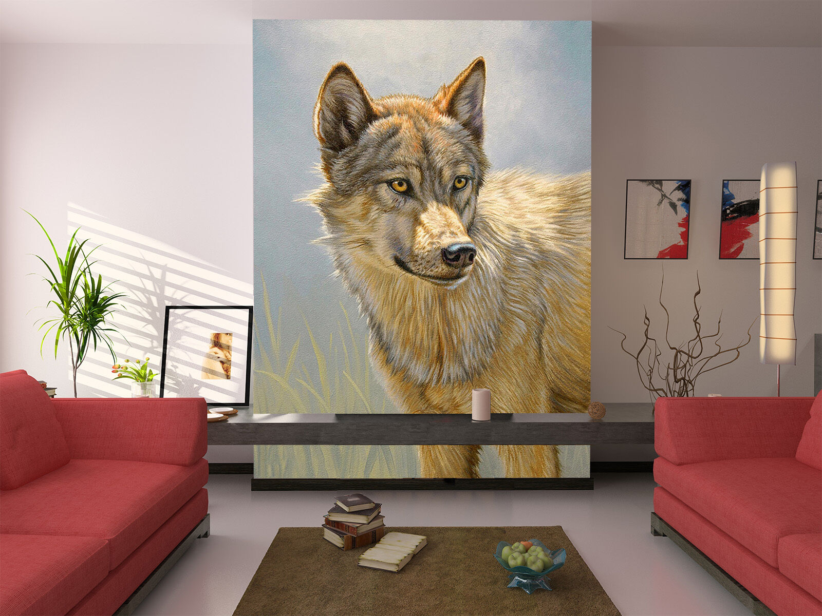 3D Clever Wolf 149 Wall Paper Wall Print Decal Wall Deco Indoor AJ Wall Paper