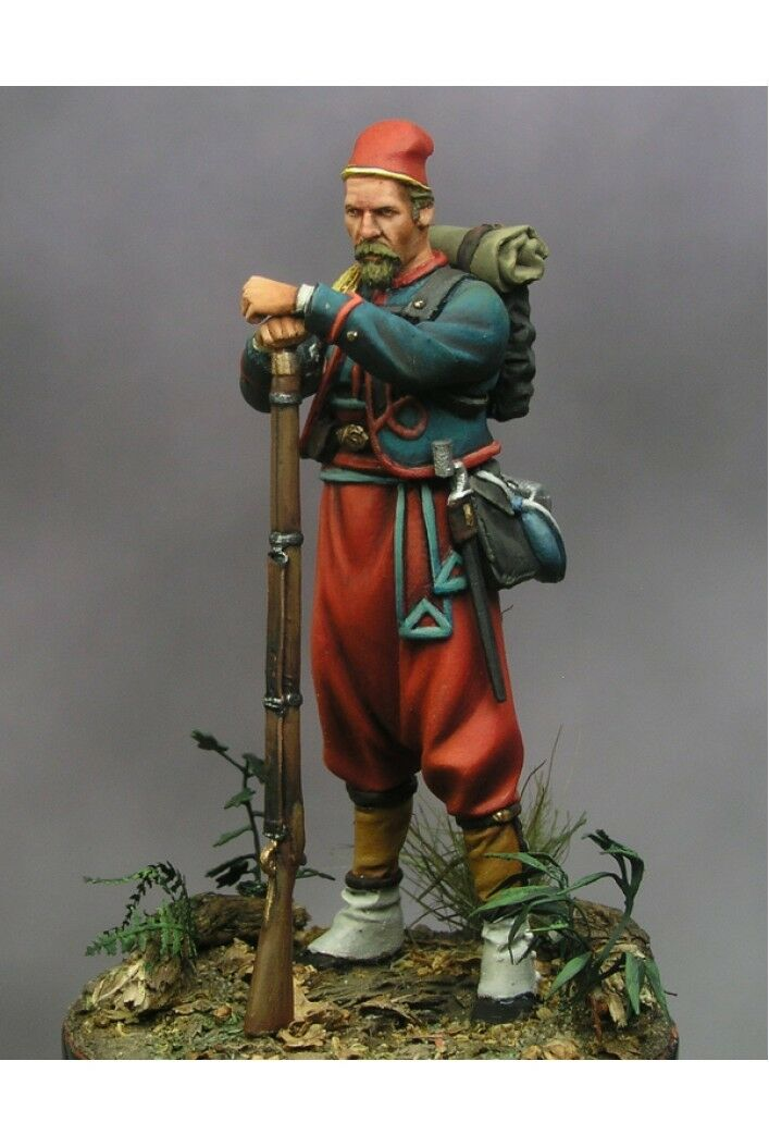 Soldato dell'Unione della Quinta Regione Zouaves di nuovo York 54mm Tin Painted giocattolo SoldierArte