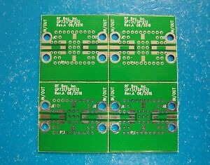 Qty.4 Develop PCB for Mini-Circuits LFCN//HFCN Filters