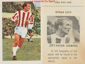 261 Peter Dobing # England Stoke City.fc Sticker Wonderful World Of Soccer 1972 3yzlgmdw-08013157-684264819