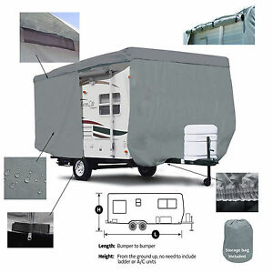 Details about Deluxe Livinlite Camplite 16DB Travel Trailer Camper Cover w/  Zipper Access