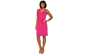 Kelly by Clinton Kelly Sun Dress with Tie Belt Navy XS A276366 QVC