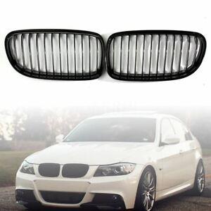 Gloss-Black-Front-Kidney-Grille-For-BMW-E90-E91-4Door-LCI-2009-2011-325i-328i