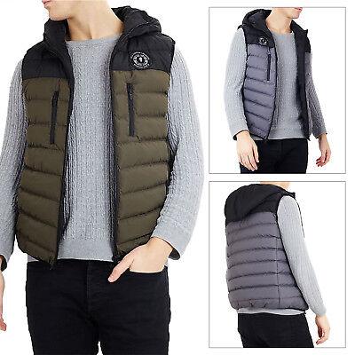 Billiger Preis Brave Soul Mens Designer Derby Soft Padded Luxury Hooded Quilted Winter Gilet Ausreichende Versorgung