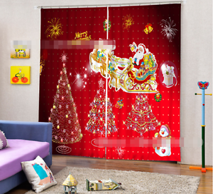 3D Xmas Gifts 3 Blockout Photo Curtain Printing Curtains Drapes Fabric Window CA