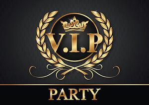 Detalles De Invitaciones Vip 6 Elegante Tarjetas Invitación Entradas Zur Dei P Fiesta