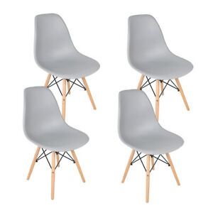 Phenomenal Details About 4 Grey Bns Eiffel Wood Leg Pp Seat Dining Chair Office Study Lounge Cafe Chair Dailytribune Chair Design For Home Dailytribuneorg