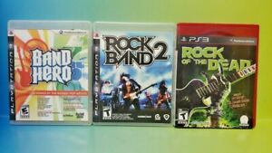 Rock Band 2, Rock of The Dead, Band Hero - Playstation 3 PS3 - 3 Game Lot Tested