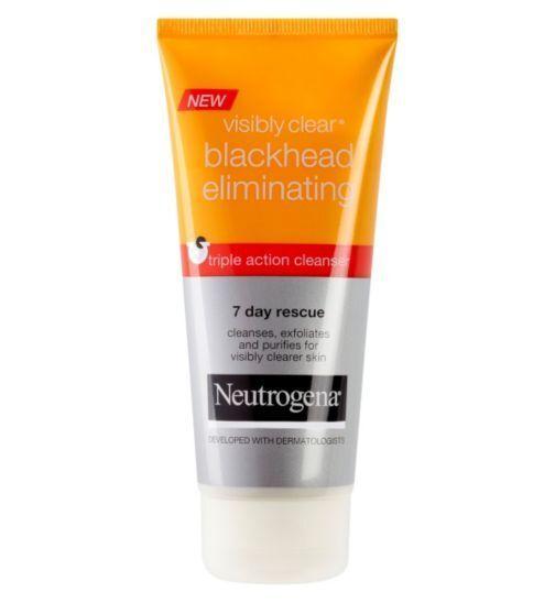 neutrogena visibly clear blackhead eliminating sos cleanser