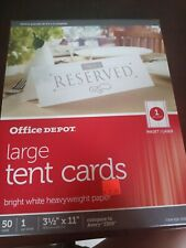 Office Depot Large Tent Cards