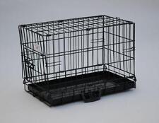 "New BestPet 20"" Black Dog Crate Cat Cage Kennel Dog House Metal Pan"