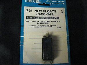 Details about NOS Tomco Carburetor Float 746
