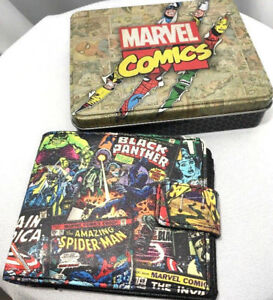New-Marvel-Comics-Spider-Man-Hulk-Avengers-Wallet-amp-Collectible-Gift-Tin-Box