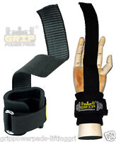Neoprene-padded Rubbered Weight Lifting Straps Bar Wrist Wraps Grip Pad No-slip