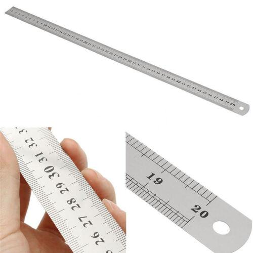 50 cm 20 Zoll Stahllineal Stahlmaßstab Metalllineal Lineal 500mm Werkstattlineal